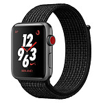 Apple Watch Series 3 Nike+ (gris sidéral - noir/platine) - Cellular - 38 mm