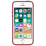 Apple Coque cuir (rouge) - iPhone SE