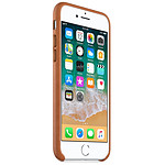Apple Coque cuir (havane) - iPhone 8 / 7
