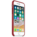 Apple Coque cuir (rouge) - iPhone 8 / 7