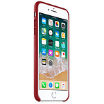 Apple Coque cuir (rouge) - iPhone 8 Plus / 7 Plus
