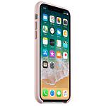 Apple Coque silicone (rose des sables) - iPhone X