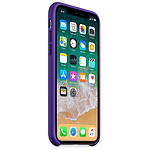 Apple Coque silicone (ultra violet) - iPhone X