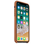 Apple Coque cuir (havane) - iPhone X