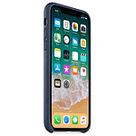 Apple Coque cuir (bleu nuit) - iPhone X