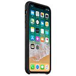 Apple Coque cuir (noir) - iPhone X