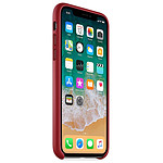 Apple Coque cuir (rouge) - iPhone X