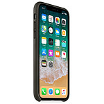 Apple Coque cuir (anthracite) - iPhone X