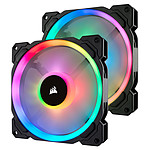 Corsair LL140 RGB - 140MM PWM PACK DE 2 + Node Pro