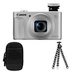 Canon Powershot SX730 Argent + Etui + Gorilla Pod