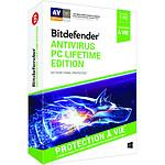 Bitdefender Antivirus PC Lifetime Edition - 1 PC - A vie