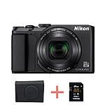 Nikon Coolpix A900 Noir + étui + carte SD 8 Go (Pack)