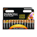 Duracell Piles Alcaline Plus Power AA LR06 (par 12)