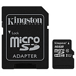 Kingston microSDHC 16 Go Canvas Select (80Mo/s) + adapt. SD