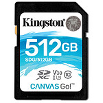 Kingston SDXC 512 Go Canvas Go! (90 Mo/s)