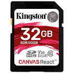 Kingston SDHC 32 Go Canvas React (100 Mo/s)