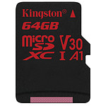 Kingston microSDXC 64 Go Canvas React (100Mo/s)