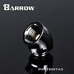 BARROW TDWT45-V2 - Embout 45° mâle vers femelle - Argent