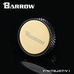 """BARROW TBJDT-V1 - Bouchon filetage 1/4"""" finition miroir - Noir et Or"""