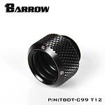 BARROW TBDT-C99 T12 - Embout pour tuyau rigide (Ø12 mm externe) - Noir