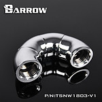 BARROW TSNW1803-V1 - Coude 180° à 3 axes - Argent
