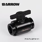 BARROW TLQFS-V1 - Mini vanne noire avec poignée alu noir