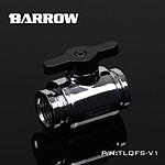 BARROW TLQFS-V1 - Mini vanne argent avec poignée alu noir