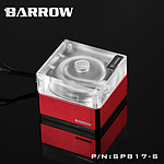BARROW SPB17-S - Pompe 17W PWM - Transparent RGB / Rouge