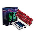 Intel Core i5 8600K + SSD MX500 - 250 Go + Ballistix Sport LT RED DDR4 2 x 8 Go 2666 MHz CAS 16 DR