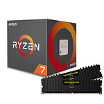 AMD Ryzen 7 2700X + Corsair Vengeance LPX Black DDR4