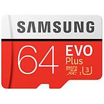 Samsung Evo Plus SDXC 64 Go (100 Mo/s) + Adaptateur SD
