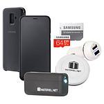 Samsung Pack d'accessoires Galaxy A6+ - Folio - micro SD