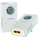 Netgear PLP2000 Pack de 2 CPL 2000 prise intégrée