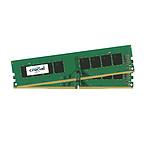 Crucial (2x4Go) 8 Go DDR4 2666 MHz CL19 SR