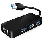 Icy Box IB AC517 Adaptateur USB 3.0 vers Gigabit Hub