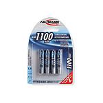 Ansmann Piles rechargeables AAA 1100mAh x4