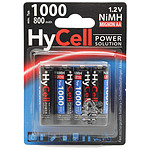 Hycell Piles rechargeables 800mAh AAA x4