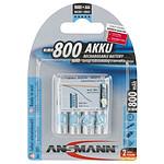 Ansmann Piles rechargeables maxE 800 mAh AAA x4