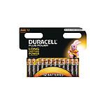 Duracell Piles Alcaline Plus Power AAA LR03 (par 12)