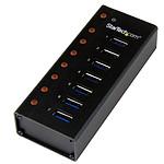 StarTech.com Concentrateur USB 3.0 à Montage mural - 7 ports