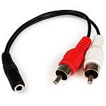 StarTech.com Cable en Y Mini-Jack 3,5mm (F) vers 2x RCA (M)