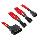 BitFenix Rallonge Rouge 3 x 3 broches 5V / Molex