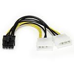 StarTech.com Câble alimentation 2 Molex / PCI-E 8 broches 15 cm