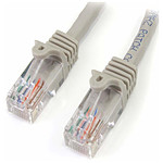 Cable Ethernet RJ45 Cat 5e UTP (gris) - 5 m