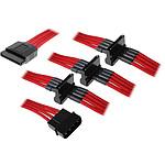 BitFenix Alchemy Câble 4 SATA / Molex - Rouge