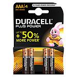 Duracell Piles Alcaline Plus Power AAA LR03 (par 4)