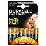 Duracell Piles Alcaline Plus Power AAA LR03 (par 8)
