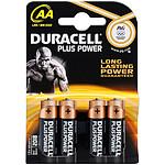 Duracell Piles Alcaline Plus Power AA LR06 (par 4)