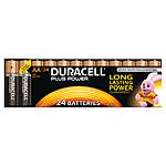 Duracell Piles Alcaline Plus Power AA LR06 (par 24)