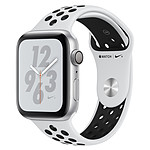Apple Watch Series 4 Nike+ (argent - platine/noir) - GPS - 44 mm